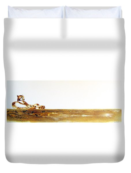 Lazy Dayz Cheetah - Original Artwork Duvet Cover