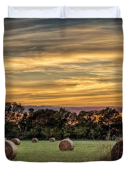 Lazy Hay Bales Duvet Cover