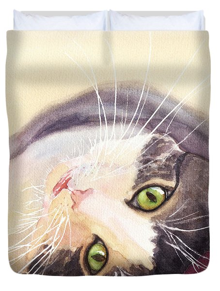 Lazy Kitty Duvet Cover