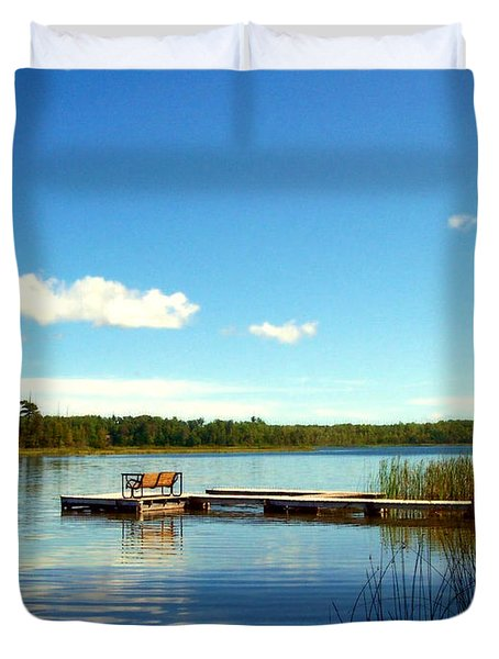 Lazy Summer Day Duvet Cover by Desiree Paquette