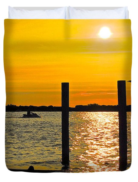 Lazy Summer Day Duvet Cover by Frozen in Time Fine Art Photography