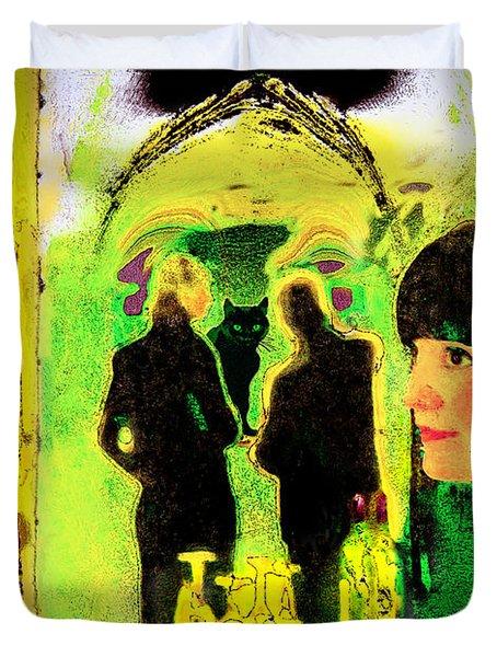 Le Chat Noir Duvet Cover