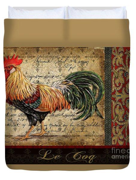 Le Coq-c Duvet Cover by Jean Plout