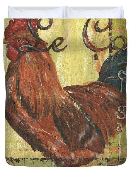 Le Coq Duvet Cover by Debbie DeWitt