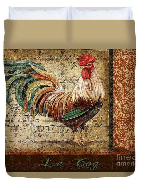 Le Coq-g Duvet Cover by Jean Plout