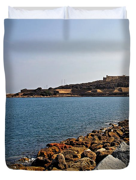 Le Fort Carre - Antibes - France Duvet Cover by Christine Till