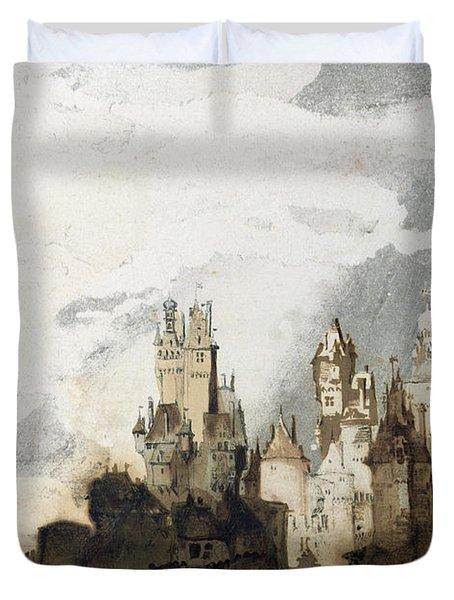 Le Gai Chateau Duvet Cover