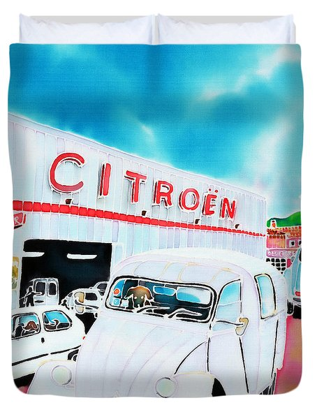 Le Garage Duvet Cover