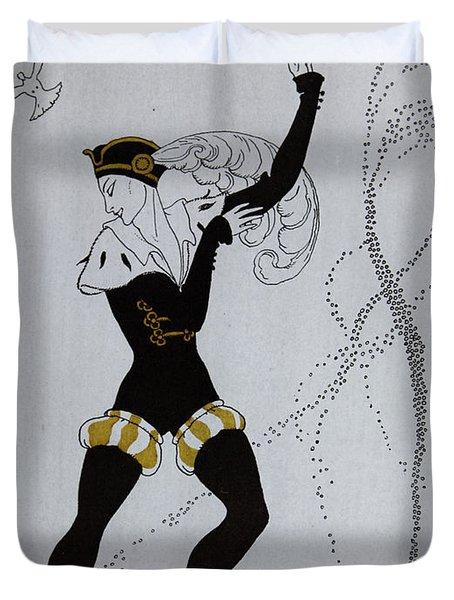 Le Pavillion D'armider Duvet Cover by Georges Barbier