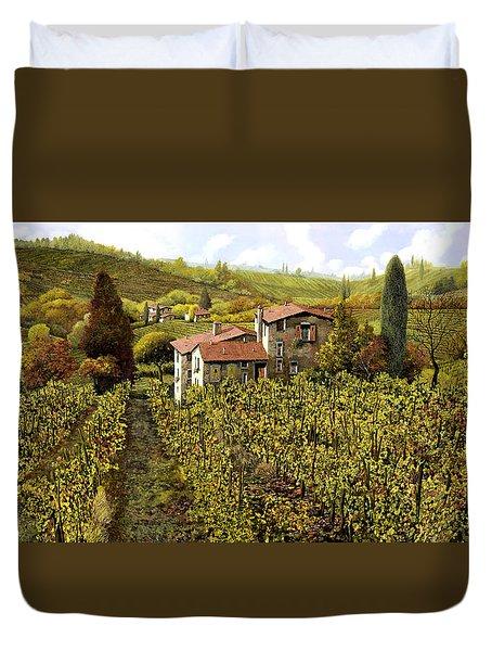 Le Vigne Toscane Duvet Cover by Guido Borelli