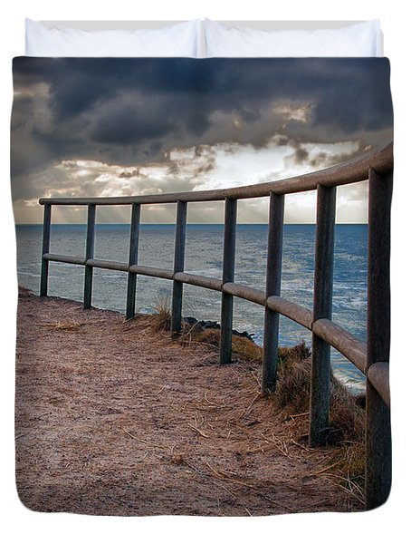 Rail By The Seaside Duvet Cover by Mike Santis