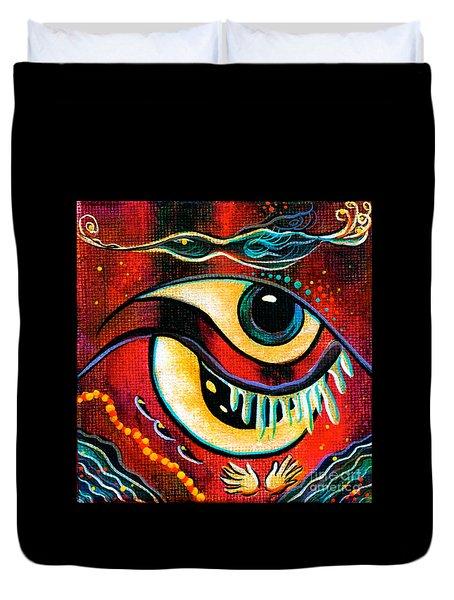 Leadership Spirit Eye Duvet Cover by Deborha Kerr