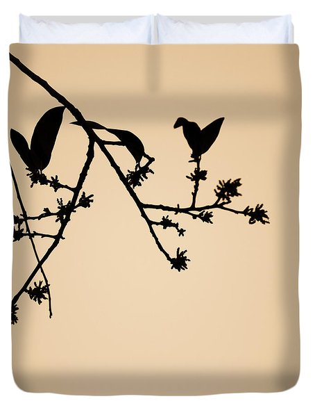 Leaf Birds Duvet Cover