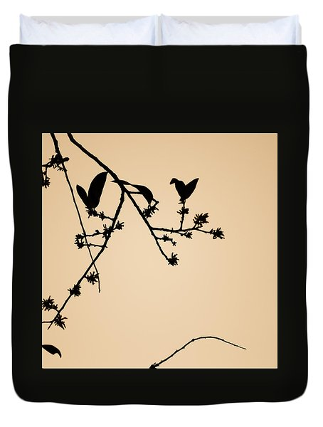 Leaf Birds Duvet Cover