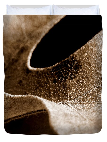 Duvet Cover featuring the photograph Leaf Collage 3 by Lauren Radke