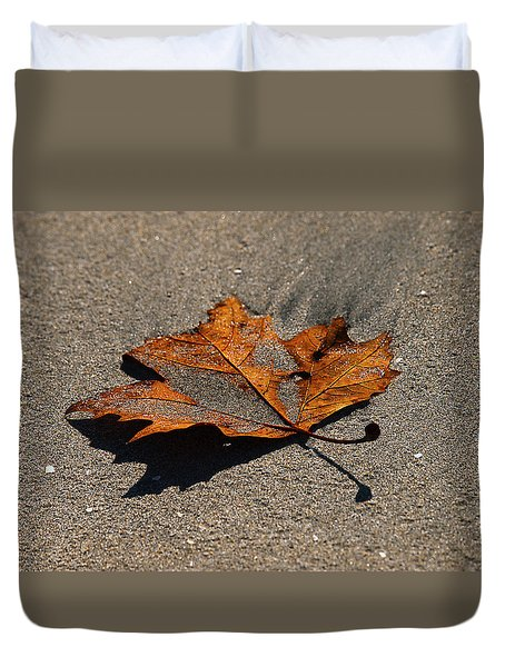 Duvet Cover featuring the photograph Leaf Composed by Joe Schofield