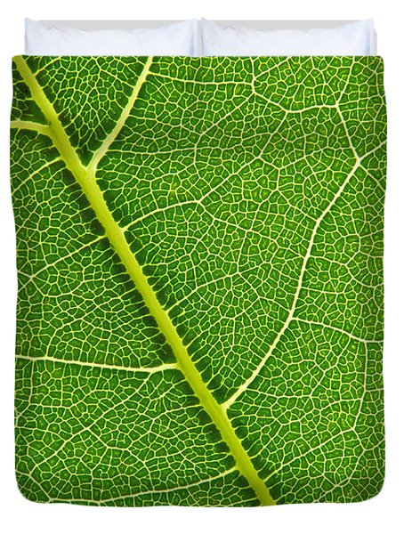 Duvet Cover featuring the photograph Leaf Detail by Carsten Reisinger