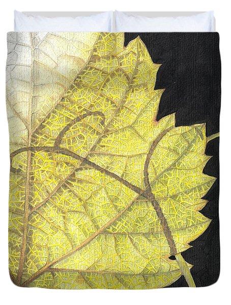 Leaf Duvet Cover by Elena Yakubovich