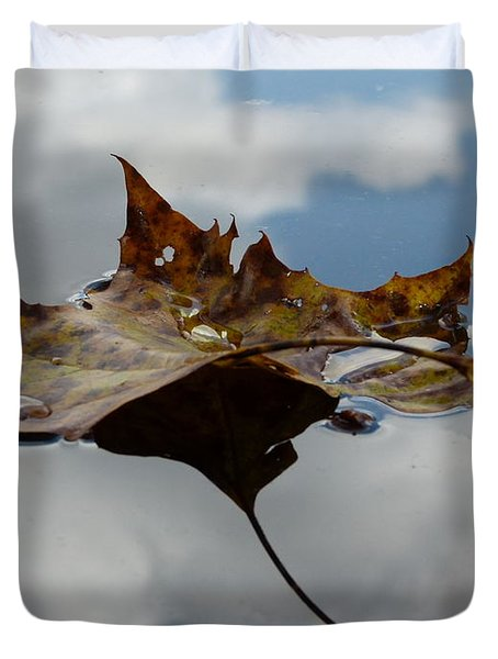 Leaf In Sky Duvet Cover