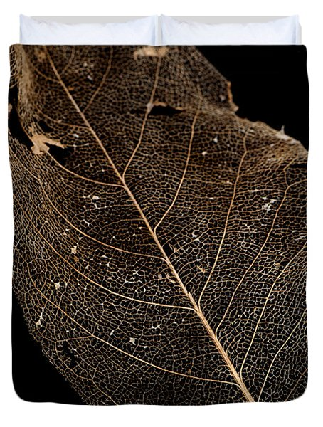 Leaf Lace Duvet Cover by Anne Gilbert