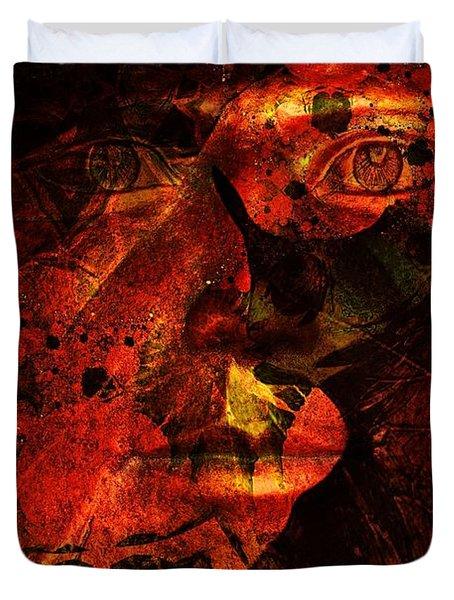 Leaf Man Duvet Cover by Elizabeth McTaggart