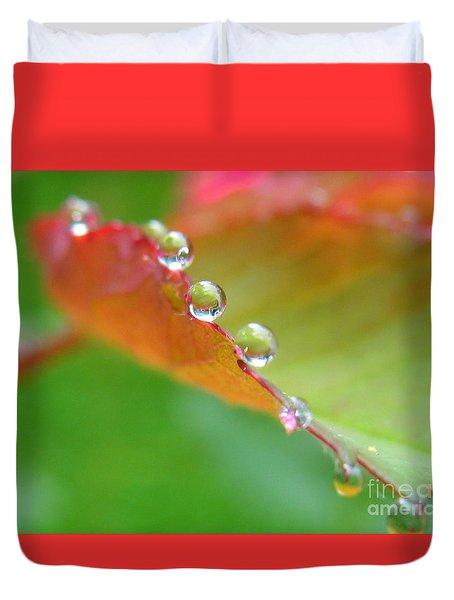 Leaf Pearls Duvet Cover