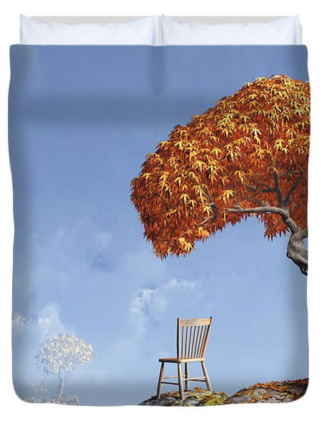 Leaf Peepers Duvet Cover