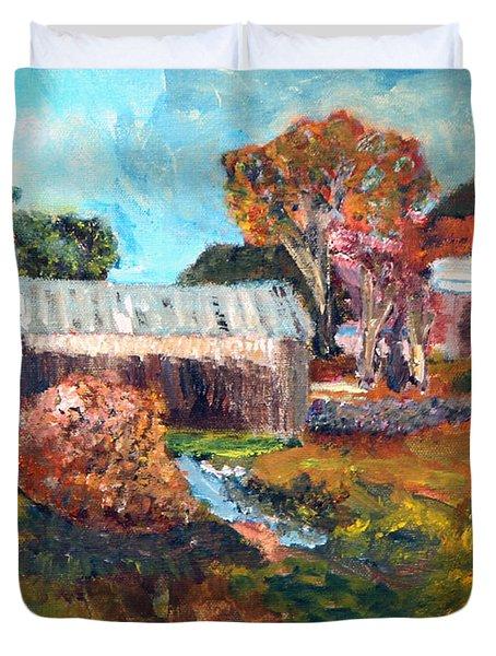 Leaf Peeping Season In Vermont Duvet Cover