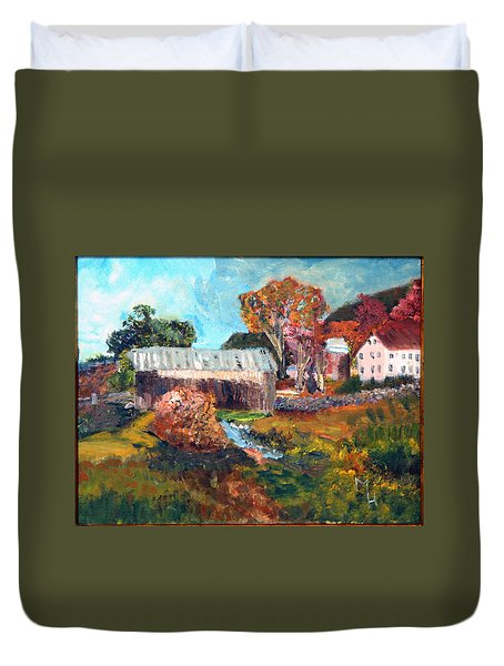 Leaf Peeping Season In Vermont Duvet Cover