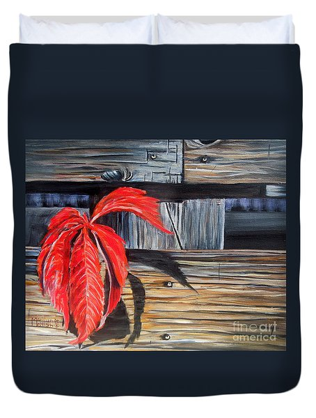 Leaf Shadow 2 Duvet Cover by Marilyn  McNish