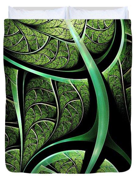 Leaf Texture Duvet Cover by Anastasiya Malakhova