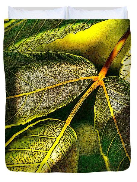 Leaf Texture Duvet Cover
