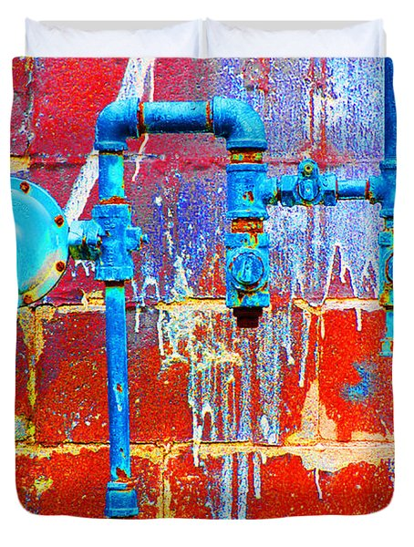 Duvet Cover featuring the photograph Leaky Faucet by Christiane Hellner-OBrien