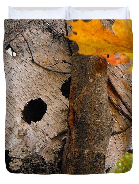 Leaning Birch Duvet Cover