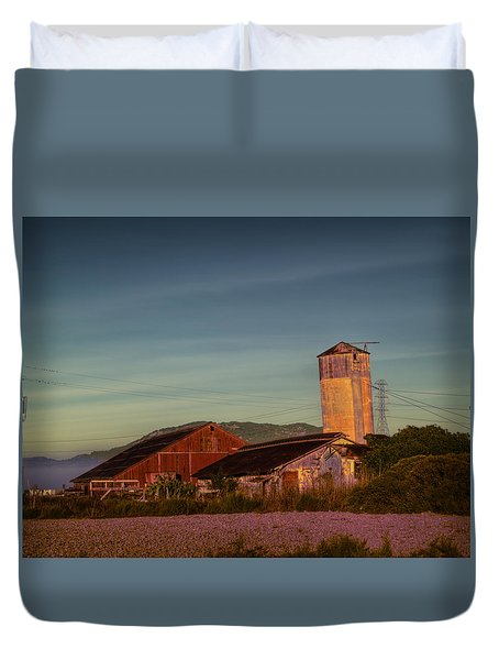 Leaning Silo  Duvet Cover by Bill Gallagher
