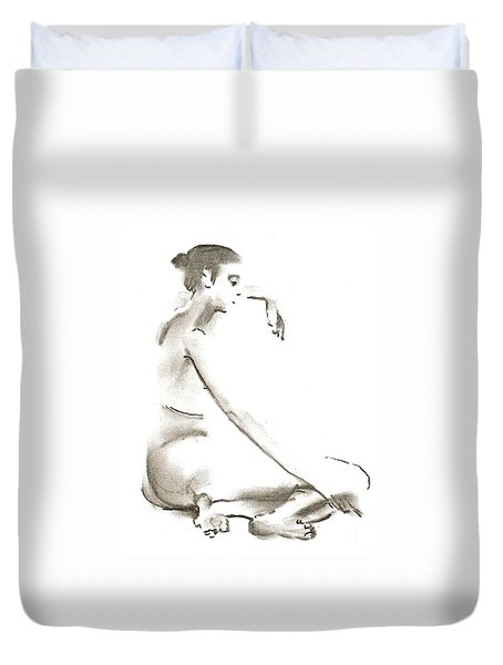 Leaning To The Side Lutar Sig Duvet Cover