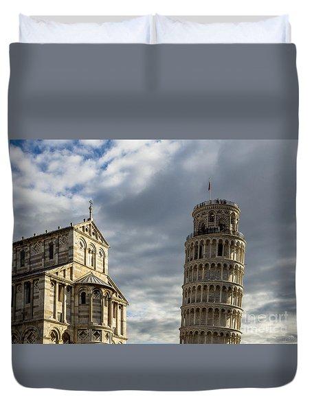 Leaning Tower And Duomo Di Pisa Duvet Cover