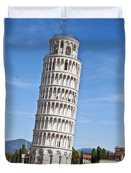 Leaning Tower Of Pisa Duvet Cover