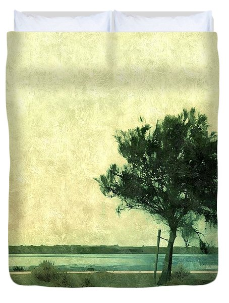Leaning Tree Duvet Cover