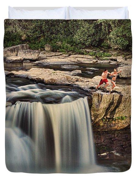 Leap Of Faith Duvet Cover by Dan Friend