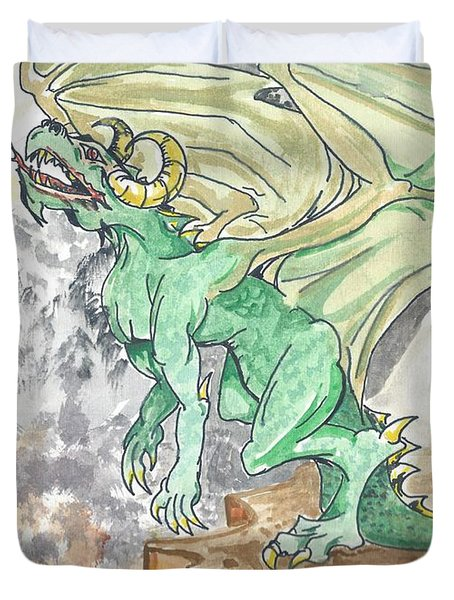 Leaping Dragon Duvet Cover