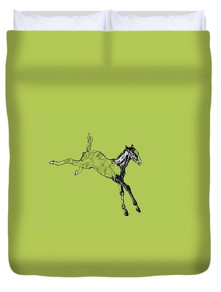 Leaping Foal 6554 Duvet Cover