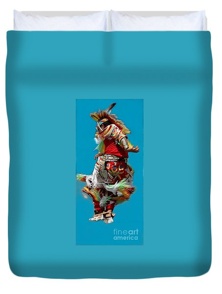 Leaping Into The Air Duvet Cover by Kathleen Struckle