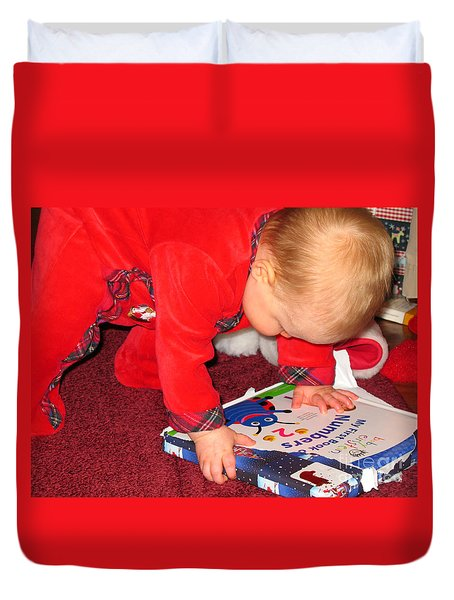 Learning To Read Duvet Cover by Connie Fox
