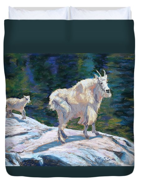Learning To Walk On The Edge Duvet Cover