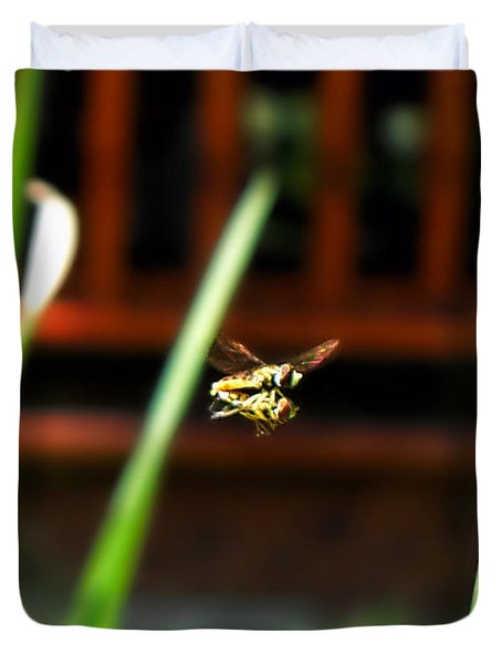 Duvet Cover featuring the photograph Leave No Bee Behind by Thomas Woolworth