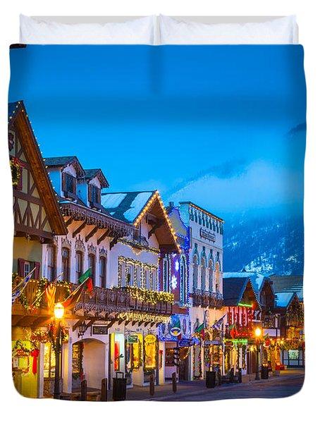 Leavenworth Skyline Duvet Cover by Inge Johnsson