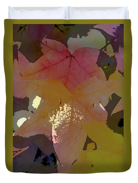Duvet Cover featuring the photograph Leaves 8 by Pamela Cooper