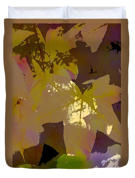 Duvet Cover featuring the photograph Leaves 9 by Pamela Cooper