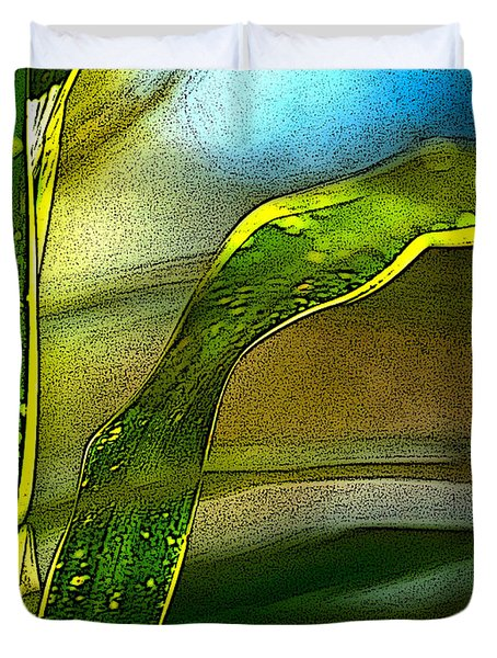Leaves And Sky Duvet Cover